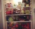 Poln hladilnik zdrave hrane