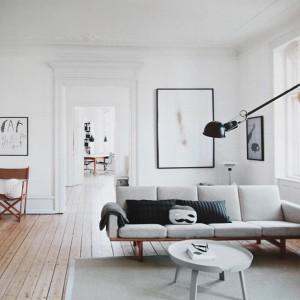 Opremljeno stanovanje v beli barvi